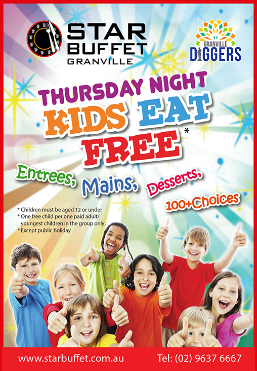 THURSDAY NIGHT KIDS EAT FREE AT STAR BUFFET GRANVILLE