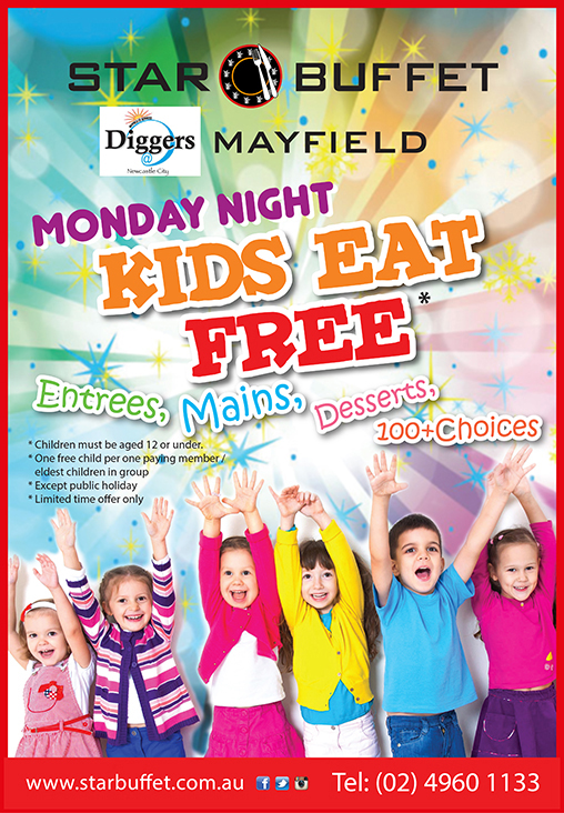 MONDAY NIGHT KIDS EAT FREE - STAR BUFFET NEWCASTLE