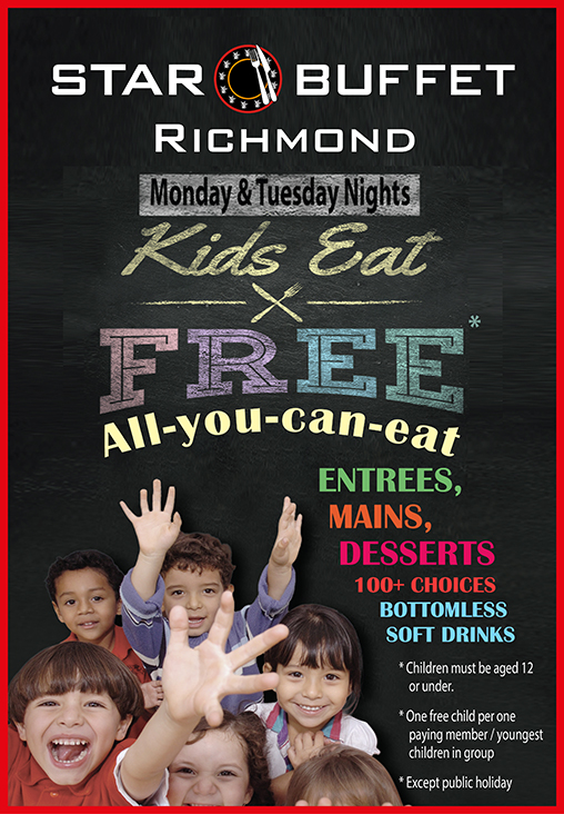 MON & TUE KIDS EAT FREE AT STAR BUFFET RICHMOND