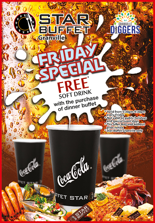 FREE SOFT DRINK AT STAR BUFFET GRANVILLE FOR FRIDAY DINNER