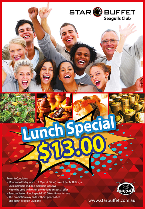 WEEKDAYS LUNCH SPECIAL AT STAR BUFFET TWEED HEADS