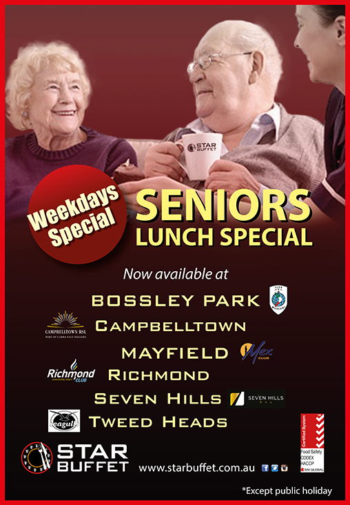 SENIORS LUNCH SPECIAL AT PARTICIPATED STAR BUFFET