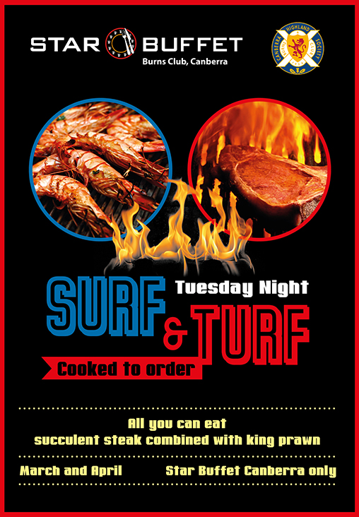 SURF & TURF TUESDAY NIGHT AT STAR BUFFET CANBERRA